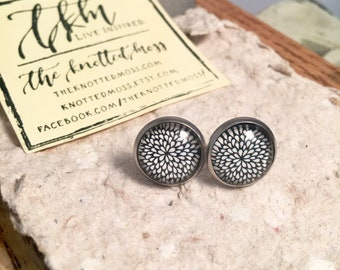 Hello, Beautiful Earrings   Dahlia Stainless Steel Settings
