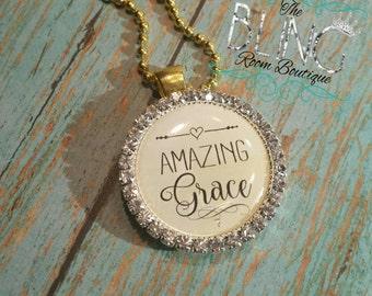 "Express His ""Amazing Grace"" Pendant Necklace"