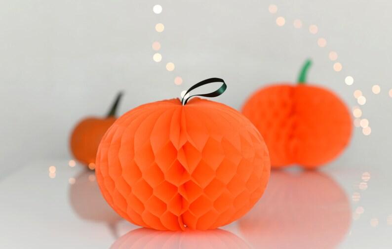 Halloween Decoration Paper Honeycomb Pumpkin Pumpkin Etsy