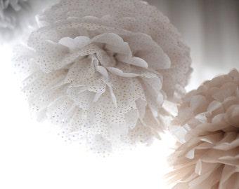 5 large tissue paper Pom Pom set - pick your colors - tissue paper Pom Poms - wedding party  pompoms decorations