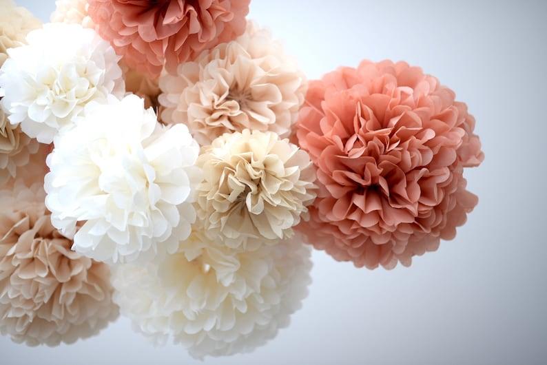 handmade wedding party decorations 3 sizes 10 tissue paper pom poms set