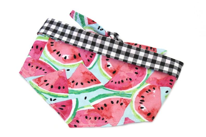 Watermelon Dog Bandana Gingham Dog Bandana