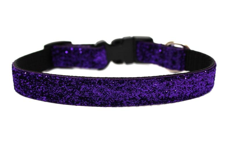 Purple Dog Collar 3/4 Glitter Dog Collar image 0