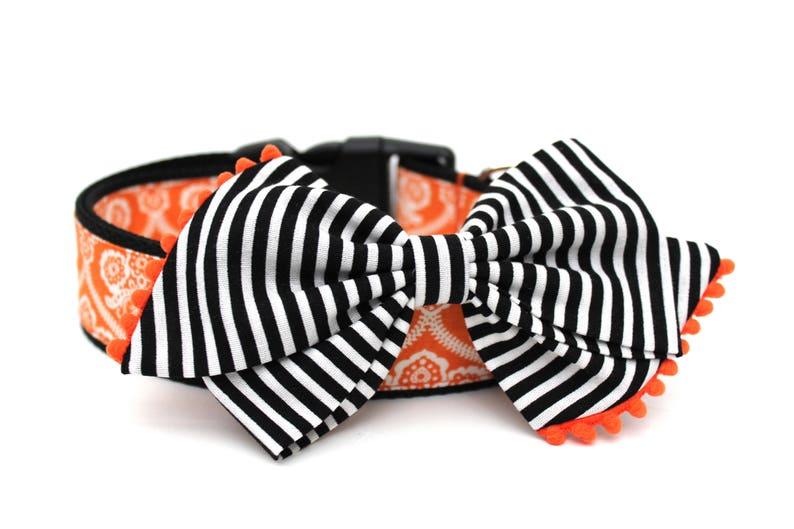 Dog Collar Bow Add-On Bow For Dog Collar Halloween Dog Bow Accessory
