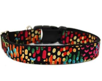 "Colorful Dog Collar 3/4"", 1"" or 1.5"" Bright Dog Collar"