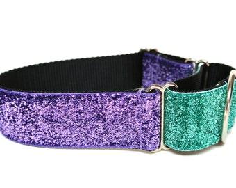 """Summer Dog Collar 1.5"""" Glitter Dog Collar"""
