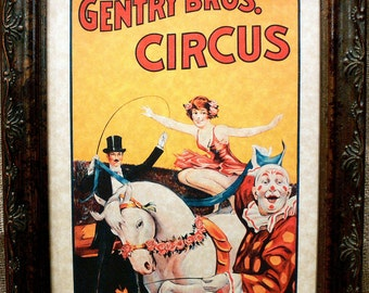 Miss Louise Hilton Greatest Rider in the World Circus Poster from 1920 Art Print on Parchment Paper