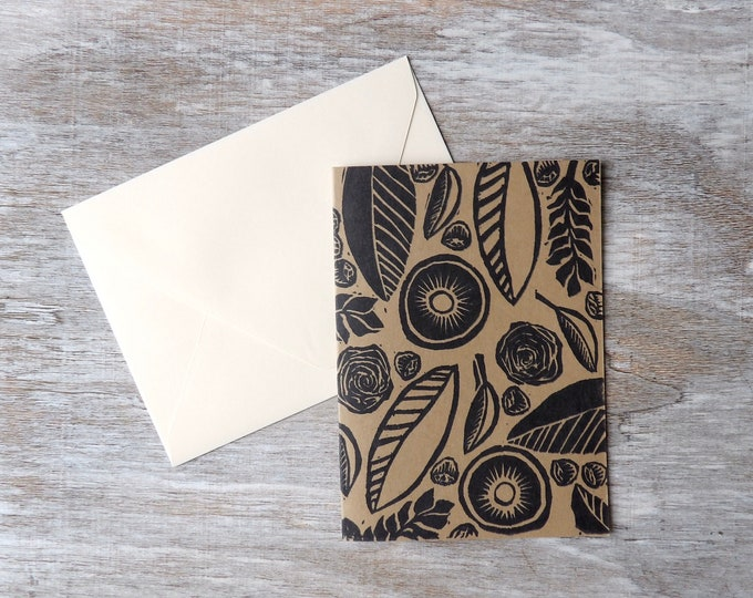 Floral, Blank Cards, Flower Pattern, Gift, Thank You Cards, Set of Blank Cards, Occasions, Art, Stamped, Handmade, Special Occasion