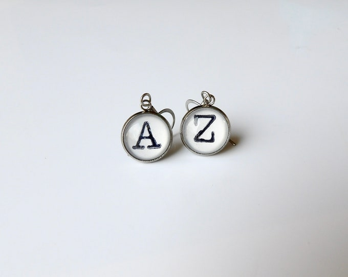 Personalized, Earrings, Mix and Match, Initial, Letters, Silver, Dangle Earring, Gift for Her, Perfect Gift, Hypoallergenic, Stainless Steel