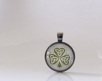 Shamrock, St. Patrick's Day, Necklace, Pendant, Glass, Jewelry, Good Luck, Parade, Gift, Ireland, St. Patty, Irish, Stacking, Layering, Fun