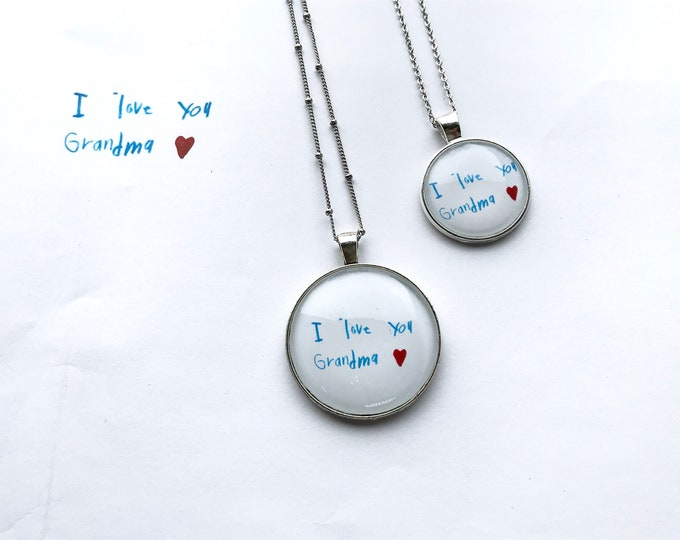Personalized, Love Letter, Handwritten Notes, Pendant, Necklace, Message, Love, Gifts, You Create the Content, We Create the Jewelry