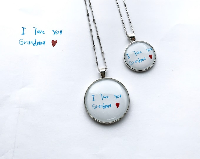 Personalized, Handwritten Notes, Love Letter, Pendant, Necklace, Message, Love, Gifts, You Create the Content, We Create the Jewelry