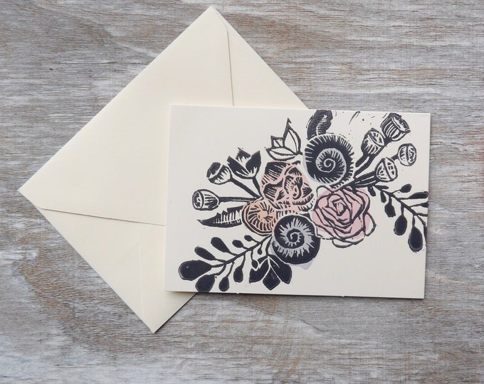 Floral, Blank Cards, Flowers, Gift, Thank You Cards, Set of Blank Cards, Occasions, Art, Stamped, Handmade, Special Occasion