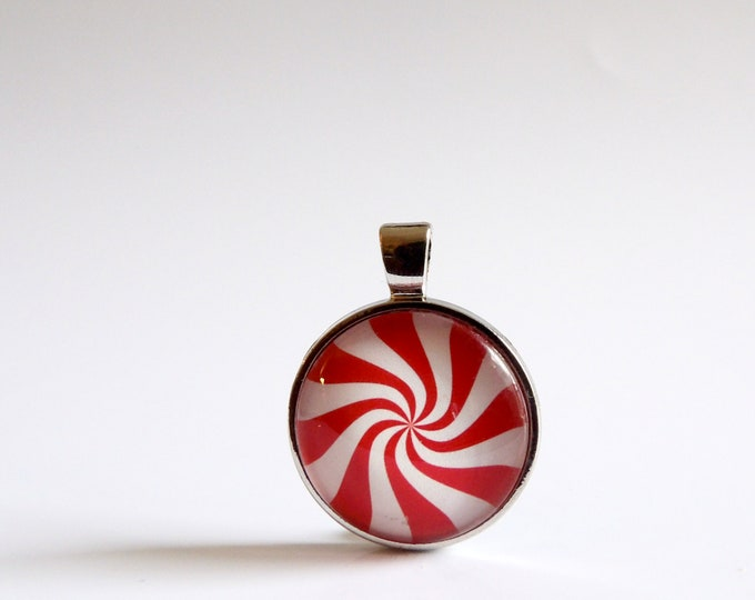 Candy, Mint, Red and White, Necklace, Holiday, Pendant, Christmas, Holiday Party, Christmas Tie, Christmas Party, Candy Cane