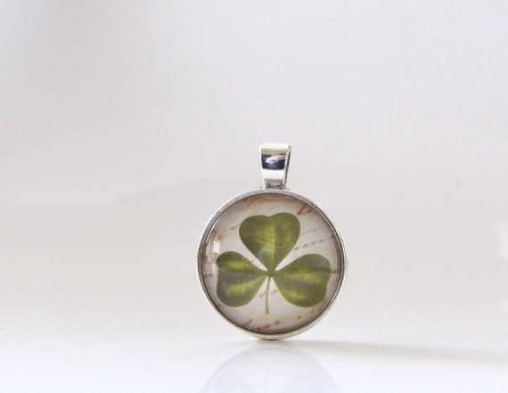 Shamrock, St. Patrick's Day, Necklace, Pendant, Glass, Jewelry, Good Luck, Parade, Gift Idea, St. Patty, Irish, Stacking, Layering