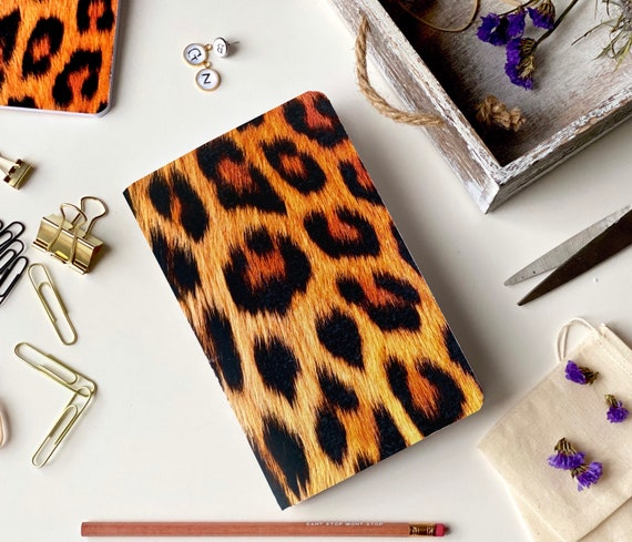 Animal Print, Leopard, Notebook, Blank, Journal, Art, Gift Ideas, Pattern, Cardstock, Handmade, Paper, Back to School