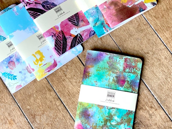 Notebooks, Artwork, Monoprints, Abstract, Journal, Paper, Stationary, Gifts, Colorful