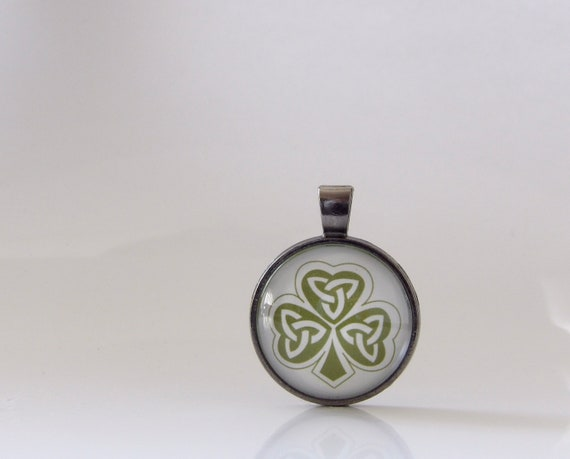 Shamrock, St. Patrick's Day, Necklace, Pendant, Glass, Jewelry, Good Luck, Parade, Gift, Ireland, St. Patty, Irish, Stacking, Layering, Fun