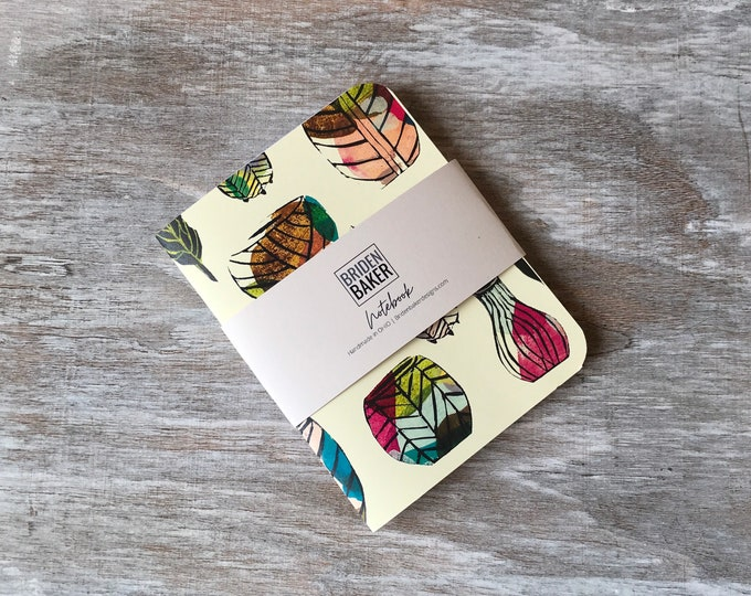 Featured listing image: Notebook, Blank, Flower Pots, Floral, Journal, Art, Gift Ideas, Pattern, Cardstock, Handmade, Paper