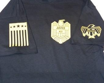 New Mega City One Justice Dept Dreed Movie Men/'s Black T-Shirt Size S-3XL
