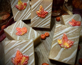 Maple Cakes ~ Maple Syrup Soap ~ Palm Oil Free, Plastic Free, Zero Waste, Organic Soap, All Natural Soap, Handmade Soap