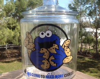Cookie Monster Cookie Jar, gallon class canister, glass cookie jar