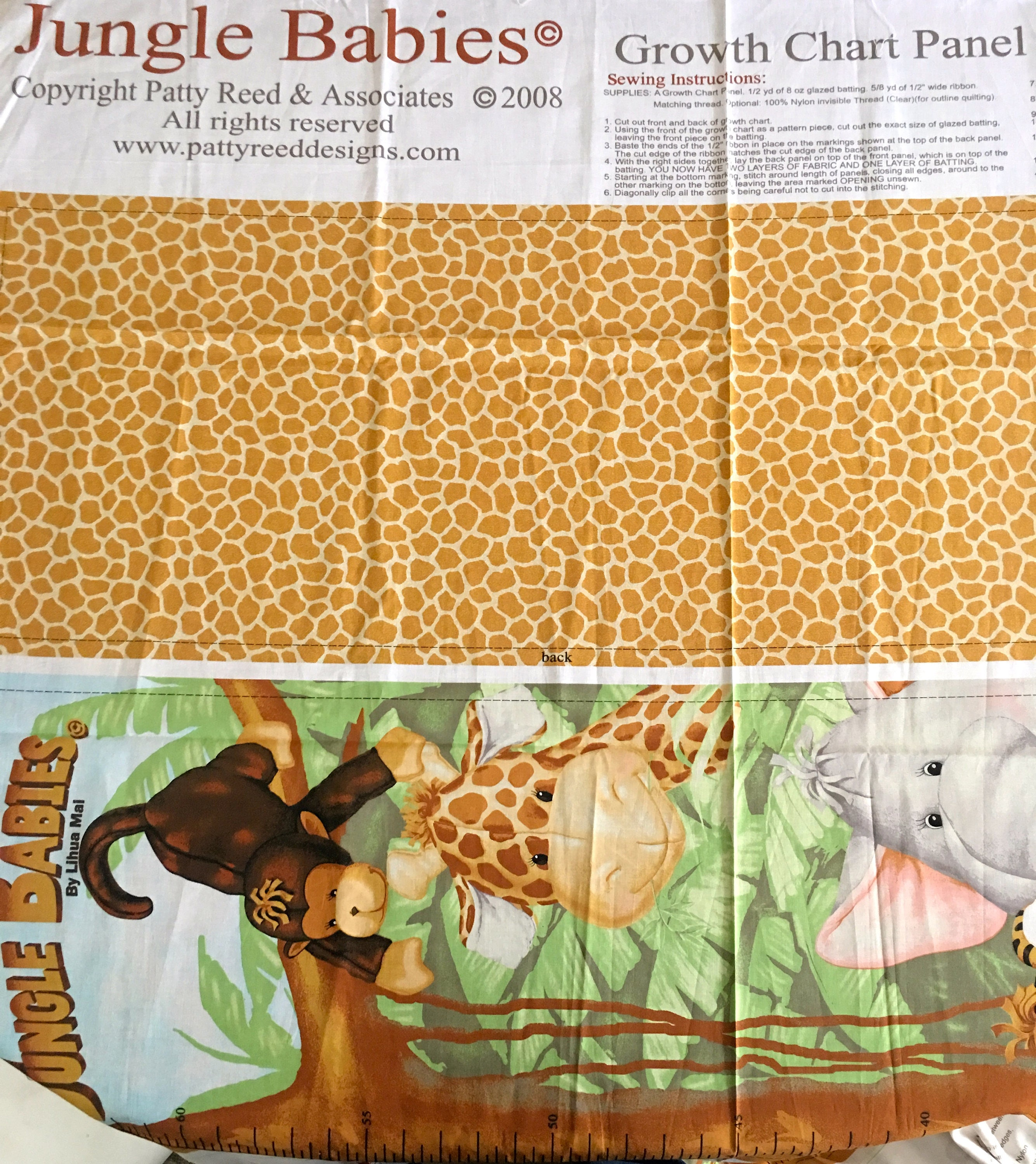 Jungle Babies By Lihua Mai Growth Chart New Etsy