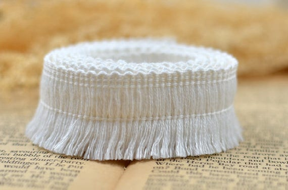 15 mètre 2,8 cm 1.1» large Ivoire coton coton Ivoire pompon franges tissu broderie robe rubans dentelle ruban Y14R595L1205Y navire gratuit 34fc82
