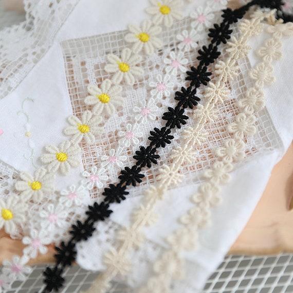 Large Flower Daisy Guipure Lace 9cm wide Colour Choice