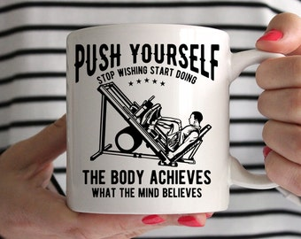Push Yourself Bodybuilding Ceramic Mug