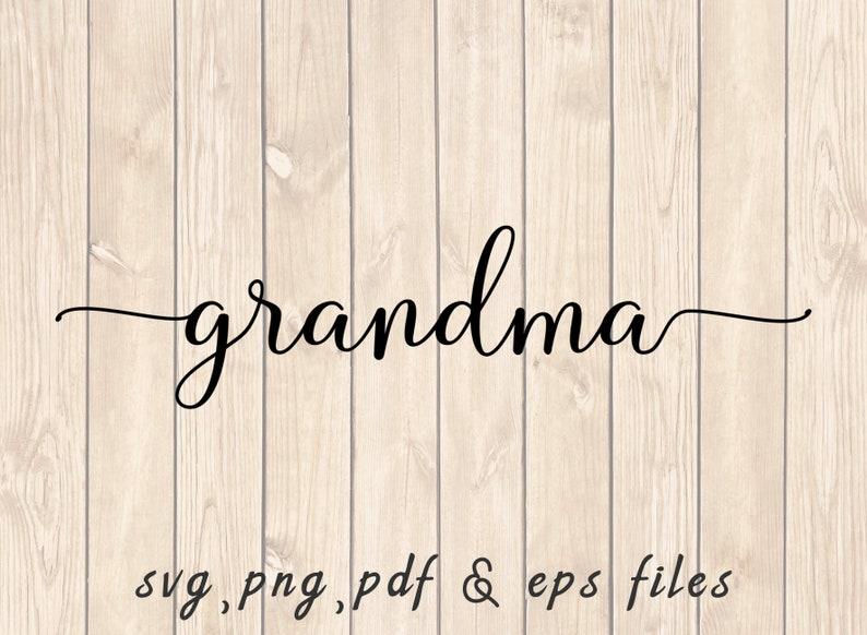Grandma Stylish Text SVG PNG PDF Craft Cutting File