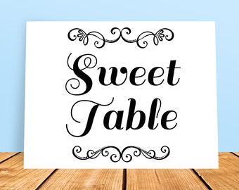 A4 DIY Wedding Sweet Table Printable Sign