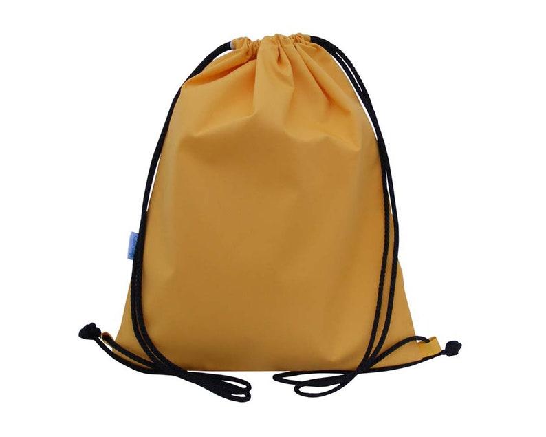 Kids Yellow Swim Bag Drawstring Backpack PE Bag  4a44c13f5f62c
