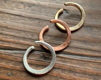 Pair Stainless Surgical Steel Dangle Hoop Sword Earrings 14 gauge 14g