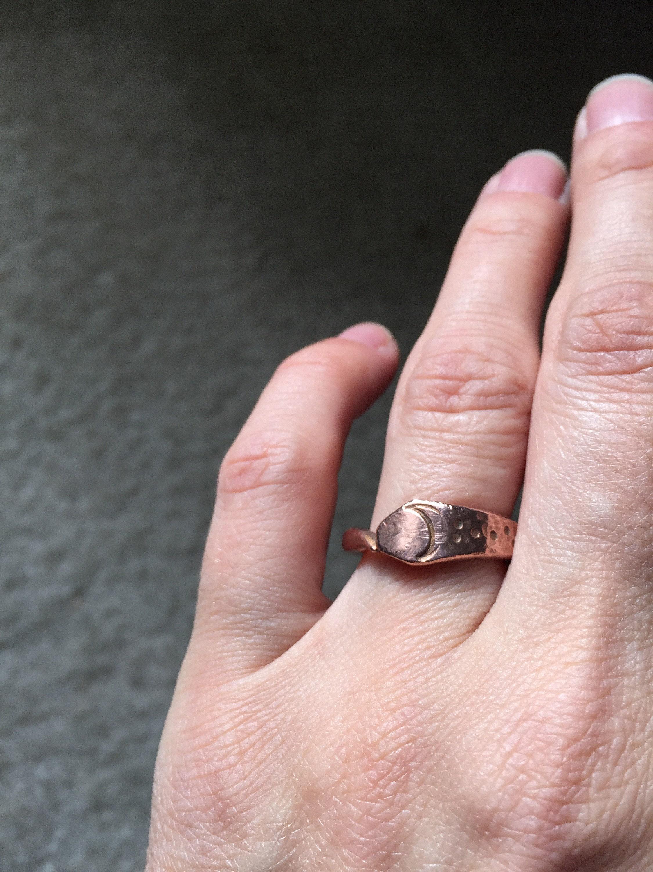 Unique Raw Copper Snake Ring Ouroboros / Jormungandr Wedding | Etsy