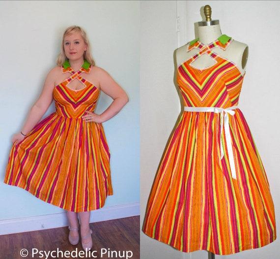 Kleid X Riemen Schneiden Sie Rockabilly Pin Up Der 1950er Etsy