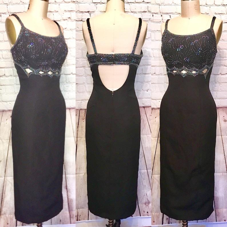 fce5b6d0c7343 Alyce Designs Vintage Dress Beaded Hollywood Bombshell | Etsy
