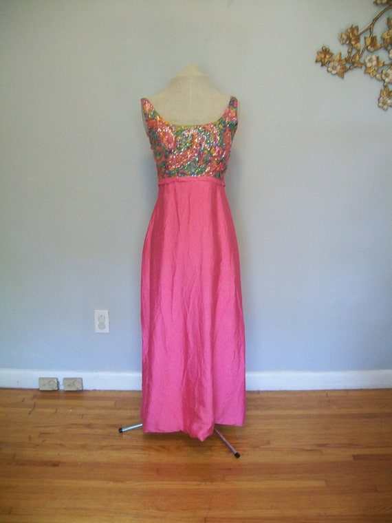 Sale Rare Vintage Designer Evening Gown- Floral- p