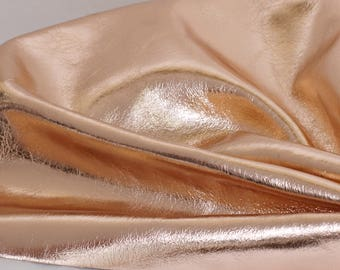 Rose Gold Genuine Leather, Metallic Leather, Cowhide