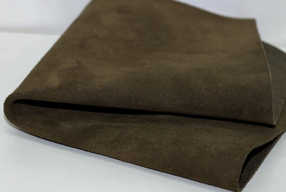 Olive Green Suede  Genuine Leather 10pcs  Leather Teardrops