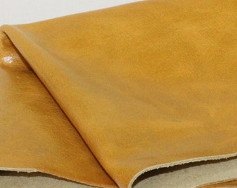 Yellow Mustard Genuine  Leather, Soft Cow Skin