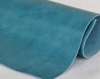 Light Blue  Genuine Leather , Cowhide