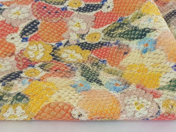 New Yellow Orange Leather Multicolored Genuine Leather Metallic Leather Soft Cowhide