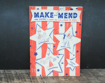 Vintage Make and Mend For Victory - The Spool Cotton Company 1942