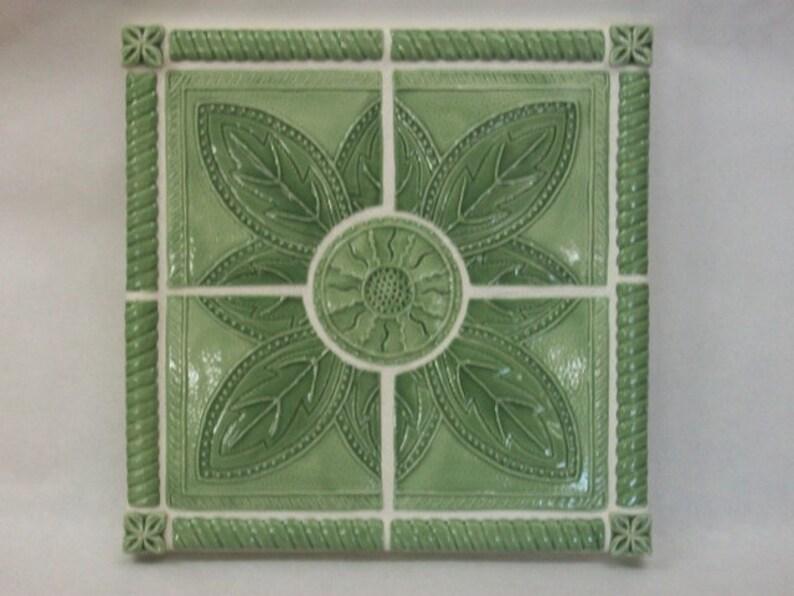 Ceramic Tile Art Panel Sunflower Number 4 Backsplash | Etsy