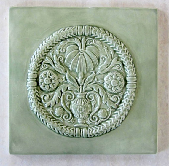 X Ceramic Accent Tile Green Tea Glaze Buttermold Tile Etsy - 6x6 accent tiles