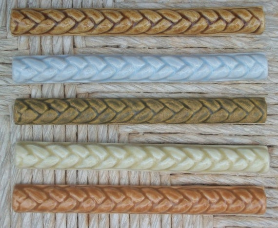 Ceramic Tile Handmade 34x6 Braid Listello Etsy