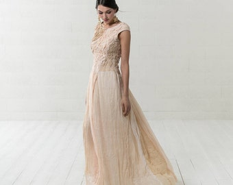 Boho beach wedding dress | Etsy