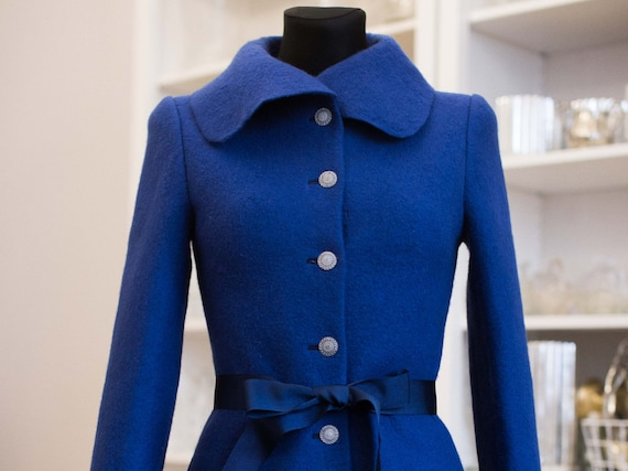 Blauen mantel fur frauen