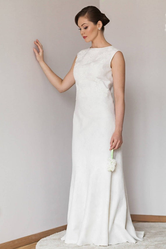 Silk And Lace Wedding Dress Felted Wedding Dress Bridal Dress Handmade Silk Dress Gatsby Wedding Unique Bridal Gown